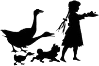 Girl and geese